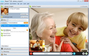 Video chat with Skype
