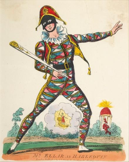Theatrical portrait of harlequin
