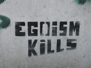 Egoism kills by Annelies, Flickr